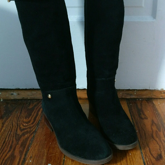 Tommy Hilfiger Leather Suede Knee High